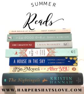 Great Summer Books | Harper's Hats Love Blog