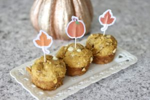 Pumpkin Coconut White Chocolate Muffins