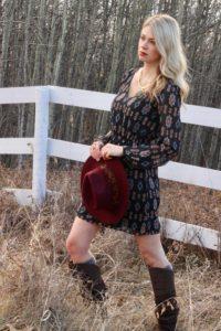 Boho Dress and Knee-High Boots