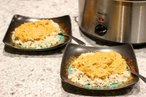 Slow cooker butter chicken meal recipe with rice