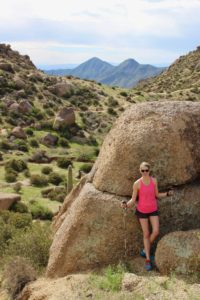 Desert landscape hikes in Scottsdale, Arizona