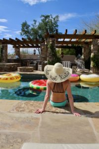 Pool side in Scottsdale, Arizona. The perfect ravel destination
