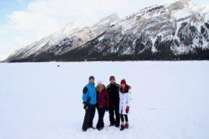 Spray Lakes, Alberta dog sledding