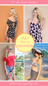 What to wear when you're on vacation - pineapple romper, watermelon jumpsuit