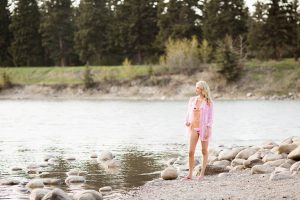 Pink summer style bathing suits with Joe Fresh lemlem capsule collection