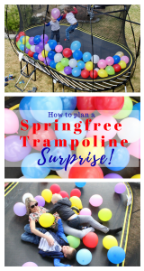 How to plan a Springfree Trampoline Surprise