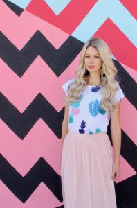 Cactus print inspired outfit on a budget- skirt, shirt for summer