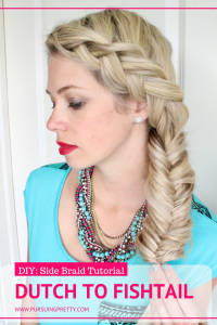 DIY: How to do a side Dutch Fishtail braid - YouTube video tutorial