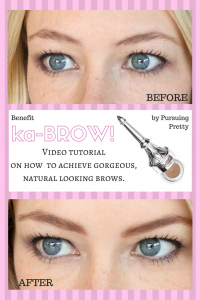 ka-BROW! Eyebrow cream-gel by Benefit - video tutorial for gorgeous natural eyebrows