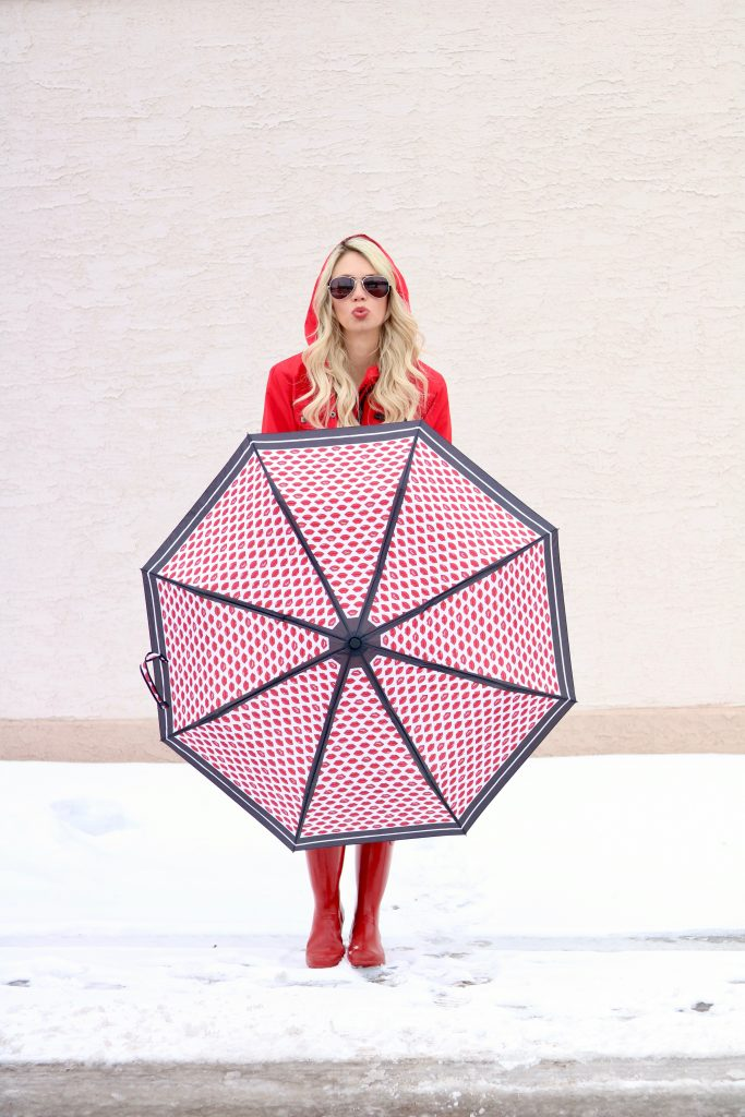 Spring Outerwear Essentials - Red Hunter Boots - Red Raincoat - Umbrella #fashion #style #springstyle #springtime #ootd #outfitinspiration