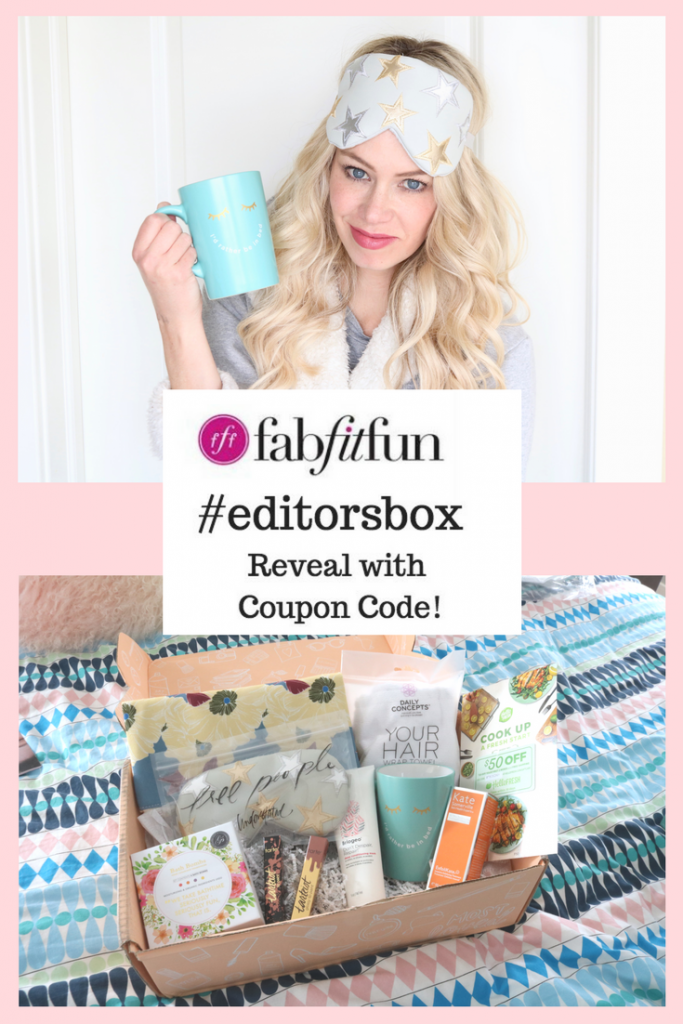 Fabfitfun Editor's Box 2018 - unboxing reveal and coupon code for $10 off!