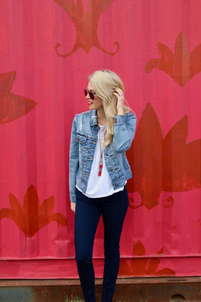 Liverpool Jeans - Denim Jackets that go with everything - easy layering for spring -25% off with KIKI25