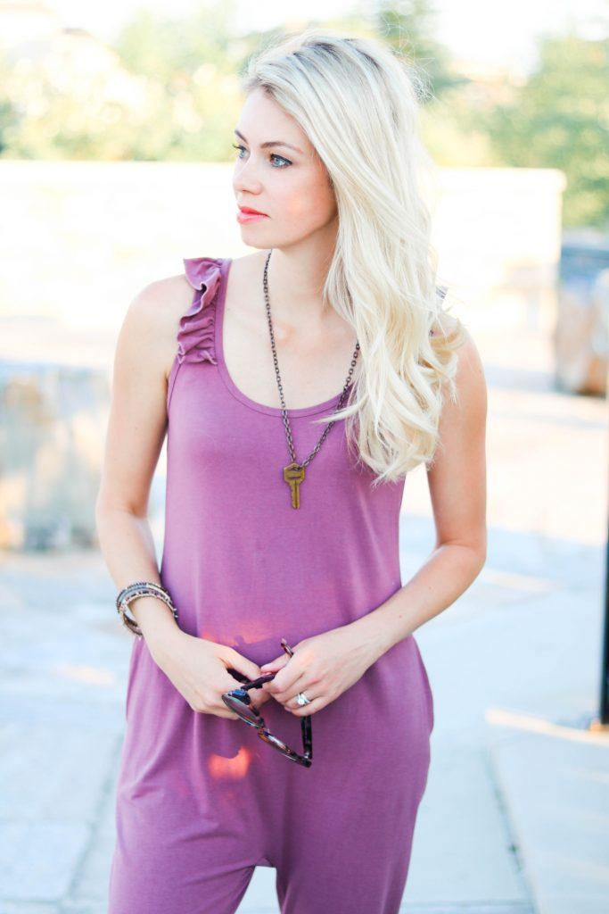 """The """"IT"""" Romper! Smash Tess Sweetheart Ruffle sleeveless romper. The most comfortable thing you will ever put on!"""