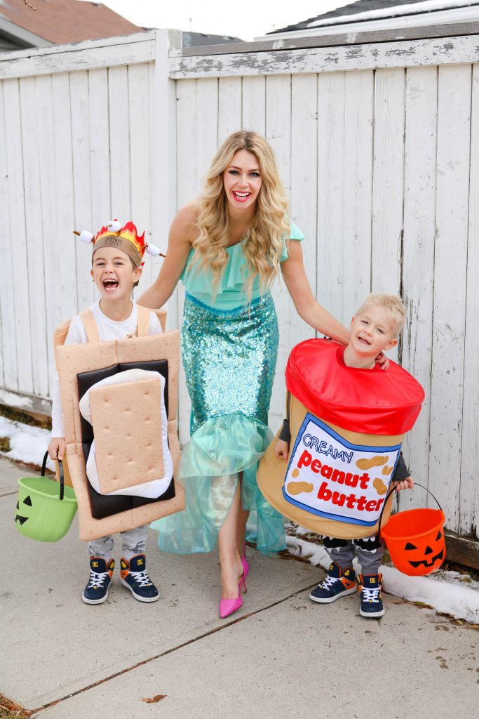 Halloween Costume Ideas for Siblings! Peanut Butter and S'more!