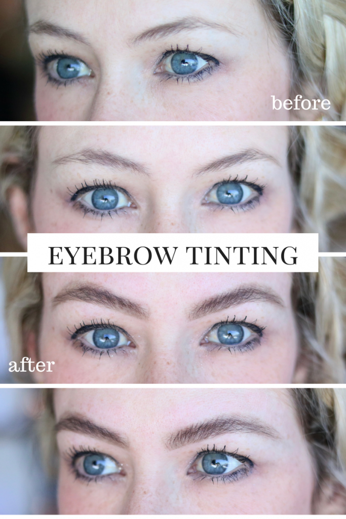 Eyebrow Tinting - Before and After Transformation ...